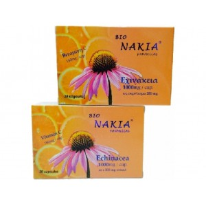 Bio Nakia x 30 κάψουλες με εχινάκεια + Βιταμίνη C για το κρυολόγημα και τη γρίπη