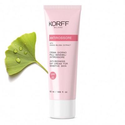 KORFF ANTI-REDNESS DAY CREAM Κρέμα προσώπου για ερυθρότητα, ευρυαγγεία, SPF 20, για ευαίσθητες επιδερμίδες 50 ml