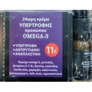 FITO+ Omega 3 Face cream with Eye cream gift  - 24ωρη κρέμα υπερτροφής προσώπου & δώρο κρέμα ματιών 50ml/10ml