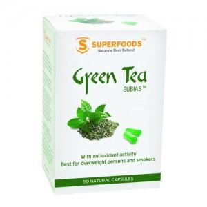 SUPERFOODS Πράσινο Τσάι Eubias 350mg 50 Κάψουλες