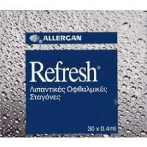 REFRESH Λιπαντικές Οφθαλμικές Σταγόνες 30 x 0.4 ml
