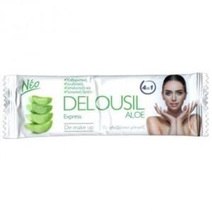DELOUSIL AlOE EXPRESS De Make Up Μαντηλάκι Καθαρισμού και Ντεμακιγιάζ, 1 τεμάχιο 10gr