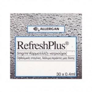 REFRESH Plus Λιπαντικές Οφθαλμικές Σταγόνες 30 x 0.4 ml
