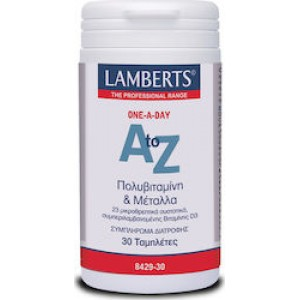 Lamberts A to Z one-a-day Πολυβιταμίνη και μέταλλα , 30 ταμπλέτες