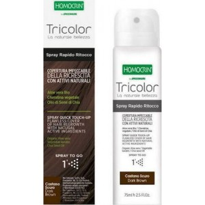 Homocrin Tricolor Spray Quick Touch Up Καστανό Σκούρο 75ml