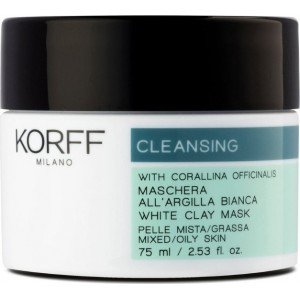 Korff  Cleansing with Corallina Officinalis White Clay Mask Λευκή Μάσκα πηλού 75ml