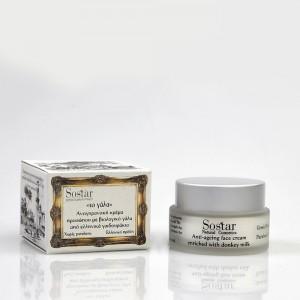SOSTAR Αντιγηραντική κρέμα προσώπου με γάλα γαϊδούρας Anti-ageing Face cream 50ml