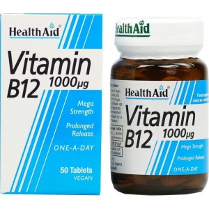 HEALTH AID Vitamin B12 1000μg Prolonged Release tablets 50's