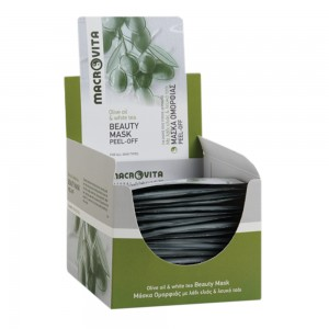 MACROVITA Μάσκα ομορφιάς Peel-off με λάδι ελιάς και λευκό τσάι 15ml