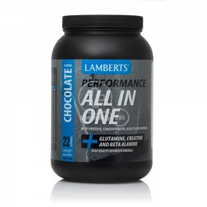 LAMBERTS Performance ALL-IN-ONE Whey Protein Chocolate(+ Glutamine, Creatine & Beta Alanine) 1450gr