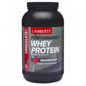 Lamberts Whey Protein Chocolate +Magnesium Πρωτείνη ορού γάλακτος +Μαγνήσιο με γεύση Σοκολάτας 1000gr
