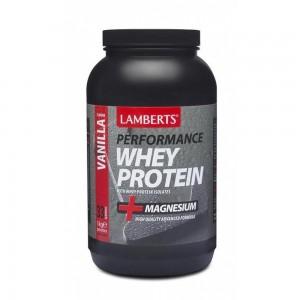 Lamberts Whey Protein Vanilla +Magnesium Πρωτείνη ορού γάλακτος +Μαγνήσιο με γεύση Βανίλια 1000gr